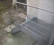 galvans�e trap met inoxleuning