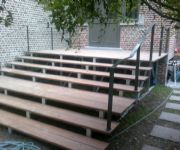 terras trap constructie met hardhout