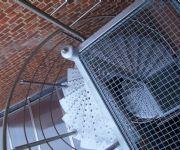galvanis�e draaitrap met inox leuning